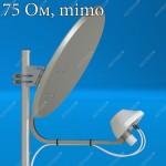 AX-2000 OFFSET 75 MIMO 2x2 - бюджетный облучатель для офсетного спутникового рефлектора, F, Antex