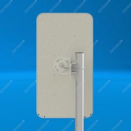 AGATA - широкополосная панельная антенна 2G/3G/4G/WIFI (14-17dBi)) F разъем, 75 Ом, Antex