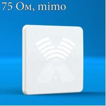 AGATA-F MIMO 2x2 F-female (75 Ом) - широкополосная панельная антенна 4G/3G/2G (15-17 dBi), Antex