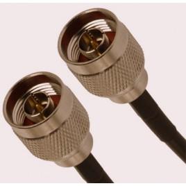 Кабельная сборка N-male и N-male 1 метр, кабель rg-58a, 50 Ом