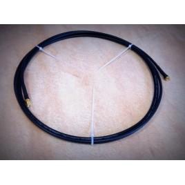 Кабельная сборка  SMA-male и SMA-female 5 метров, кабель RG-58a\u, 50 Ом