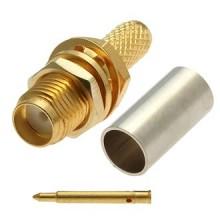 Разъем rp-sma (female), обжимной,для коаксиального кабеля RG-58, пин под пайку.