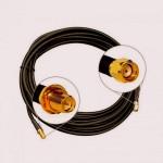 Кабельная сборка  RP-sma-female и RP-SMA-male 2 метра, кабель rg-58, 50 Ом
