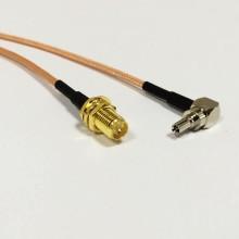 Пигтейл  CRC9-RP-SMA (female) - 15 см - кабельная сборка