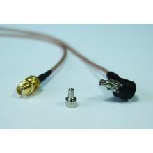 Пигтейл sma-female - crc9/ts9 15-20 см кабельный переходник