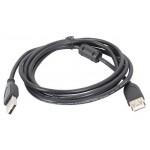Удлинитель USB для цифровой аппаратуры, AMAF, USB 2.0, с ферритовыми фильтрами, 3м