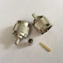 ВЧ разъем N типа вилка (папа) (N--111F), обжимной, под коаксиальный кабель RG-58, пин под пайку.