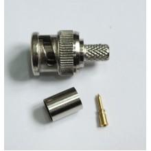 Разъем BNC-male, обжимной,для коаксиального кабеля RG-58, пин под пайку.