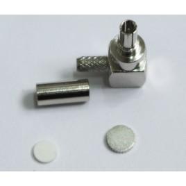 Разъем CRC-9 (угол), обжимной,для коаксиального кабеля  RG-178, пин под пайку.