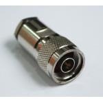 ВЧ разъем N-male, обжимной, для коаксиального кабеля 10D-FB, прижимной