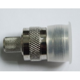 Разъем N-female, обжимной,для коаксиального кабеля 5D-FB, пин под пайку.