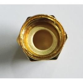 Разъем F-male, обжимной,для коаксиального кабеля  RG-58, пин под пайку. (Упаковка 10 шт).